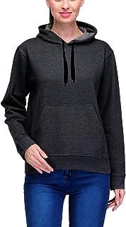 Scott International Women's Premium Rich Cotton Pullover Hoodie Sweatshirt - Charcoal Grey