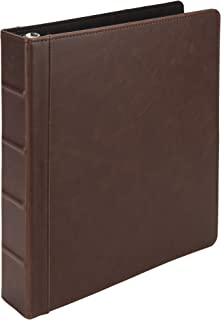 Samsill Vintage Hardback Book Binder/Professional Binder Organizer/Planner Binder / 1.5 Inch 3 Ring Binder/Dark Brown (No Zipper, Letter Size)