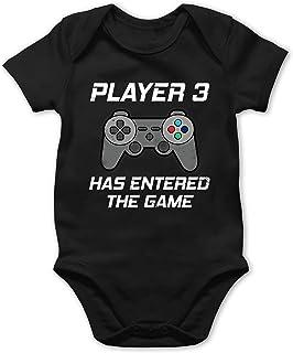 Shirtracer Player 3 Has Entered The Game Controller grau - Baby Body Kurzarm für Jungen und Mädchen