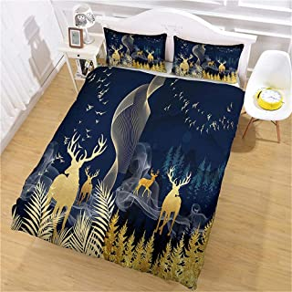 Sängkläder set 3D påslakanset med Luba*sängkläder (220 x 240 cm), 3 delar set 1 del påslakan + 2 delat matchande örngott