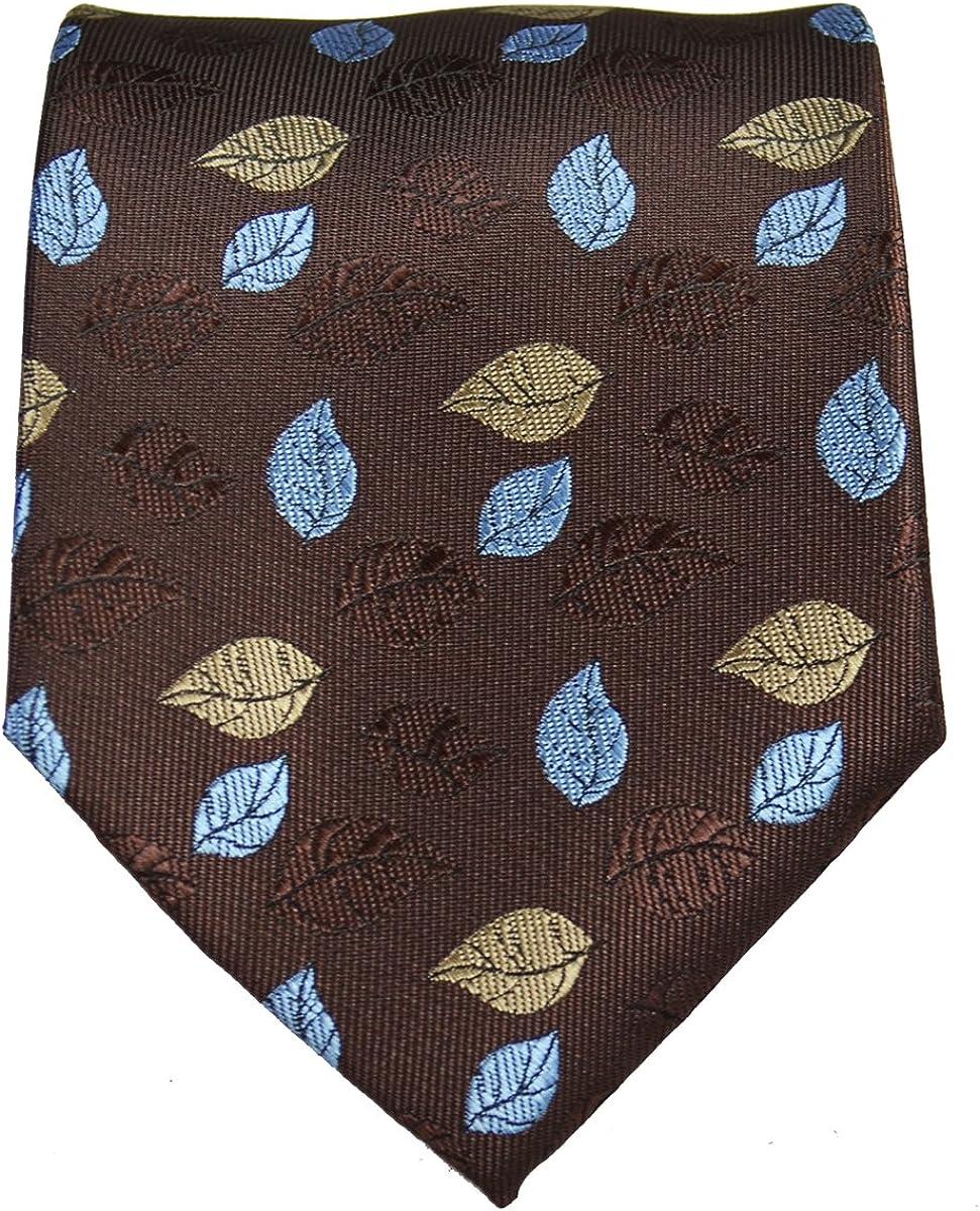 Brown Floral Necktie