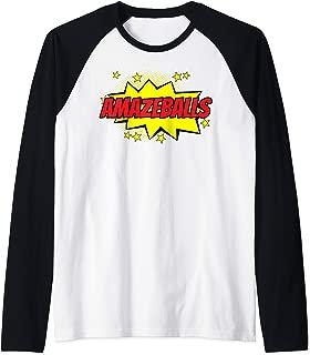 Totes Amazeballs Amazing Balls Amazeballs t shirt Raglan Baseball Tee