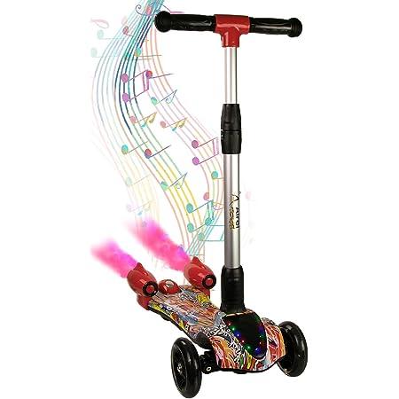 Airel Scooter para Niños | Patinete 3 Ruedas | Scooter para Niños | Patinete con Luces | Scooter para Niños con Música y Vapor | Patinete Niños de 3-8 Años