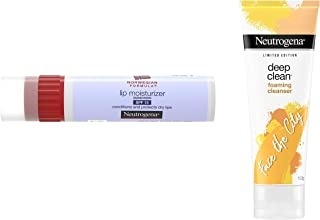 Neutrogena Norwegian Formula Lip Moisturizer, SPF 15, 4g And Neutrogena Deep Clean Foaming Cleanser, 100g