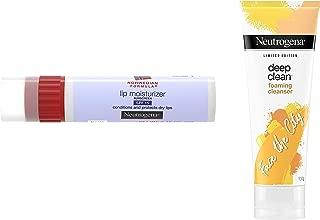 Neutrogena Norwegian Formula Lip Moisturizer, SPF 15, 4g & Deep Clean Foaming Cleanser, 100g Combo