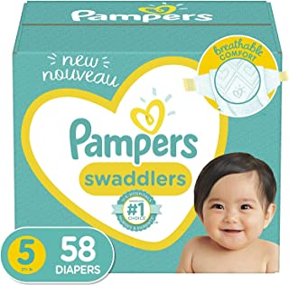 Diapers Size 5, 58 Count - Pampers Swaddlers Disposable Baby Diapers, Super Pack