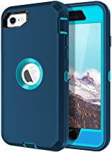 I-HONVA for iPhone SE 2020 Case Built-in Screen Protector Shockproof Dust/Drop Proof 3-Layer Full Body Protection Rugged H...