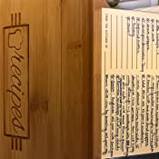 Viene con 50 tarjetas de recetas y 9 divisore 10 x 15 cm Table Matters Caja de Recetas con Tarjetas y Divisores con Pesta/ñas