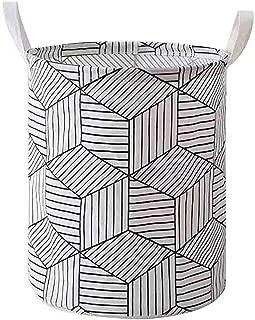 Krystal_wisdom Laundry Hamper Clothes Basket Cotton Waterproof Washing Bag Foldable Storage Cesto De Roupa Suja Laundry Basket Washing Bag,A,