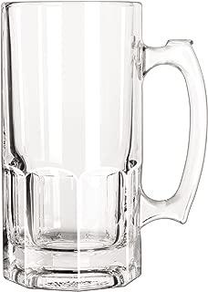 Libbey 31009001392 Glass Mugs & Tankards, Super Mug, 34oz, 8 inch Tall, 12/carton