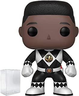 Funko Pop! TV: Mighty Morphin' Power Rangers - Zack Black Ranger (No Helmet) Vinyl Figure (Bundled with Pop Box Protector Case)