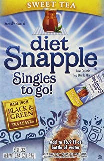 Snapple Lot of 12 (6-ct.) Boxes SNAPPLE Sweet Tea ~Singles to Go! Sugar Free Drink Mix.,, 12 Count ()