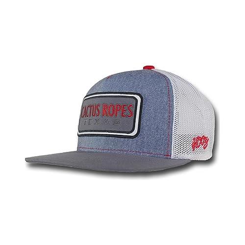 928fb8580 HOOey Boys  Men s Grey Cactus Ropes Patch Logo Baseball Cap - Cr024