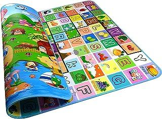Tapis de Jeux Enfant, 200x180cm Pliable 2 Côtés, Tapis en mousse antidérapant imperméable Appliquer à l'intérieur et l'ext...