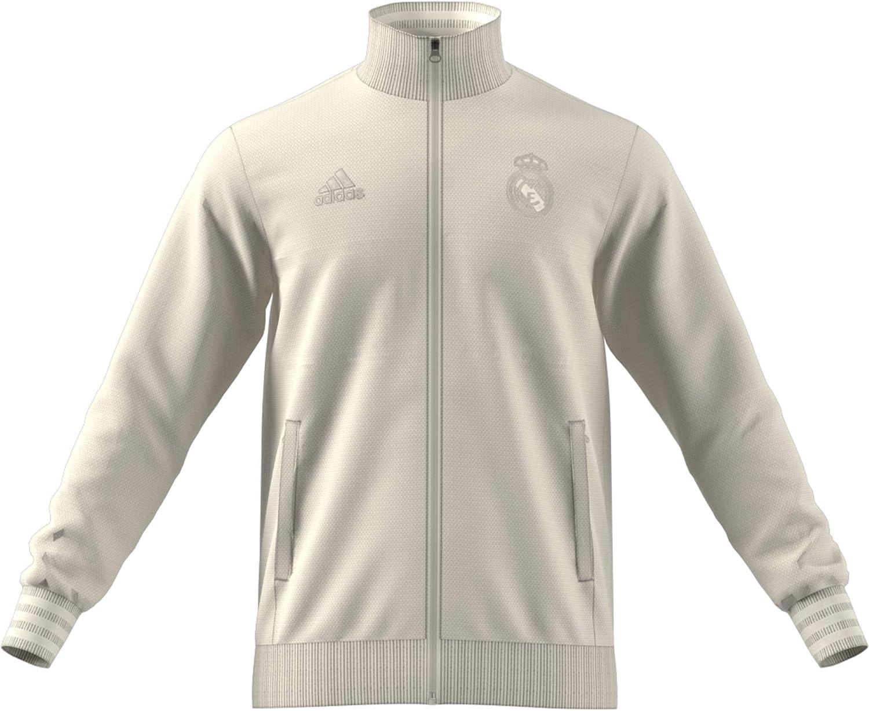 2018-2019 Real Madrid Adidas SSP Training Top (Cream)