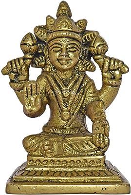 999Store Brass Idols Statue Home Décor Mandir Temple Gift Indian Art( Brass_3x2x2 Inches_0.230 Kg) Brass066