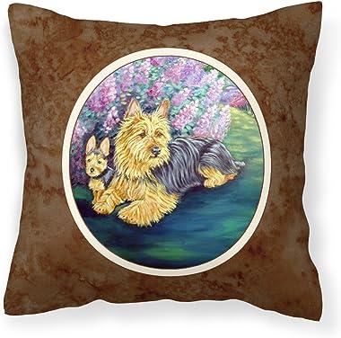 Caroline's Treasures 7209PW1414 Australian Terrier and Puppy Fabric Decorative Pillow, 14Hx14W, Multicolor