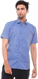 Champa Men's Cotton Chambray Half Sleeve Shirt