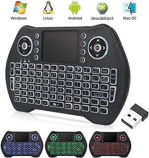 T95ミニ キーボード ワイヤレス2.4GHz バックライトタッチパッドキーボードマウス一体型 USBレシーバー付き PC/PAD/Android TV/HTPC/IPTV等対応接続簡単