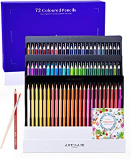 BlueFire Colored Pencils, Professional 72 Colored Pencil Set for Adults and Children, Soft Core Watercolor Pencils for Wat...