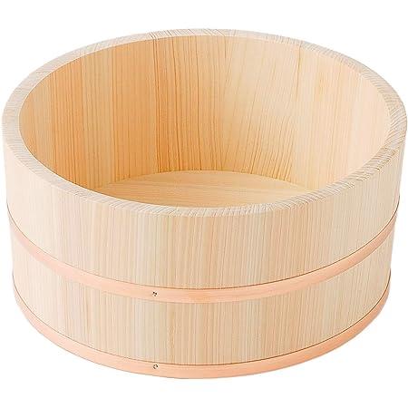 池川木材 【国産】 桧 銅タガ 湯桶(小) 直径約21×11cm
