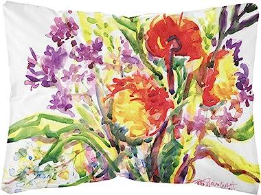 Caroline's Treasures 6042PW1216 Flower Decorative Canvas Fabric Pillow, 12H x16W, Multicolor