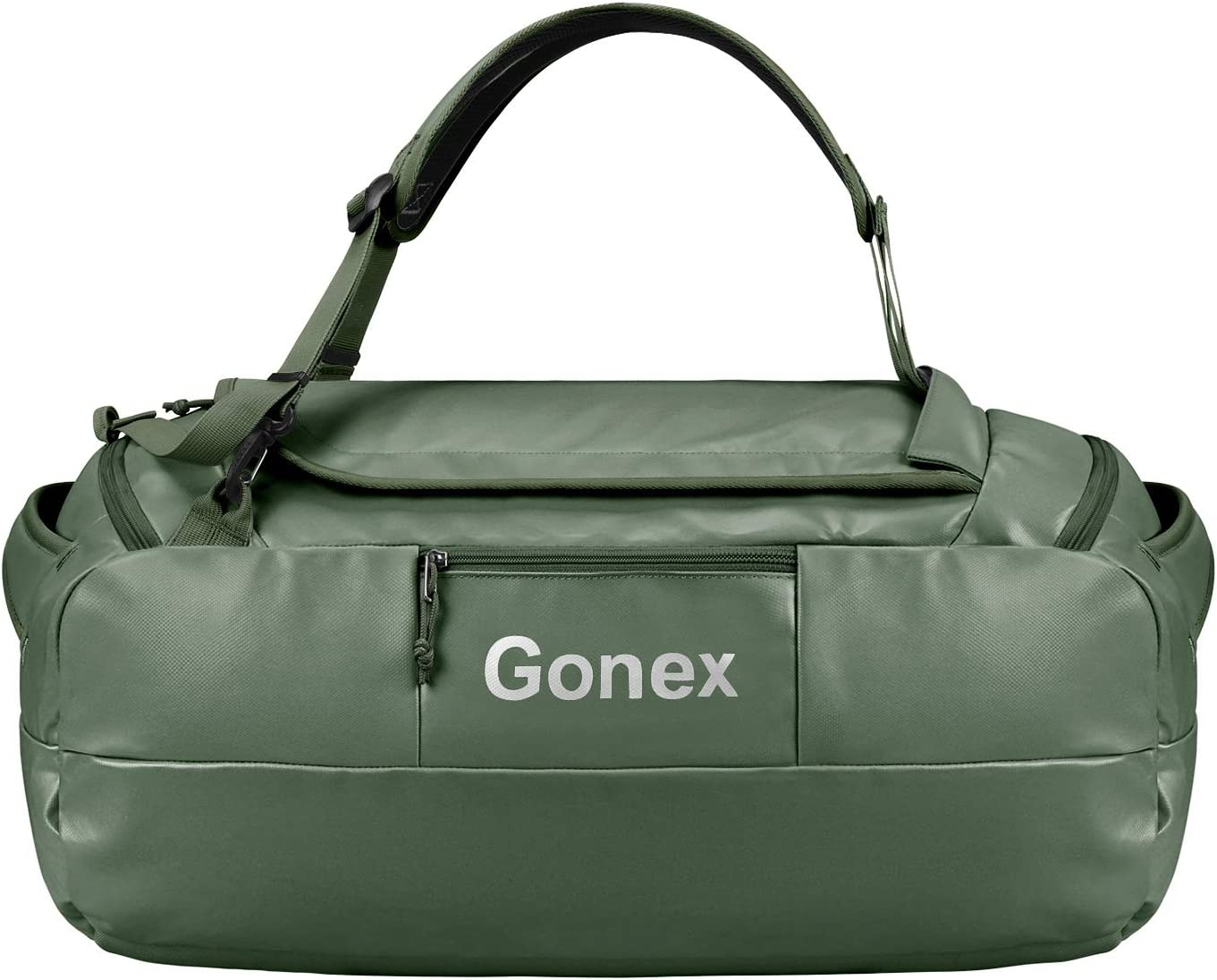 Gonex 80L Water Repellent Duffel Bag Backpack Outdoor Heavy Duty Duffle Bag with backpack straps for Hiking Camping Travelling Cycling for Men Women Black