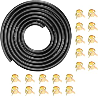 """CocoMocart 9.85-Foot Length Stretchy 1/4 Inch ID Fuel Line+20pcs 2/5"""" ID Hose Clamps.."""