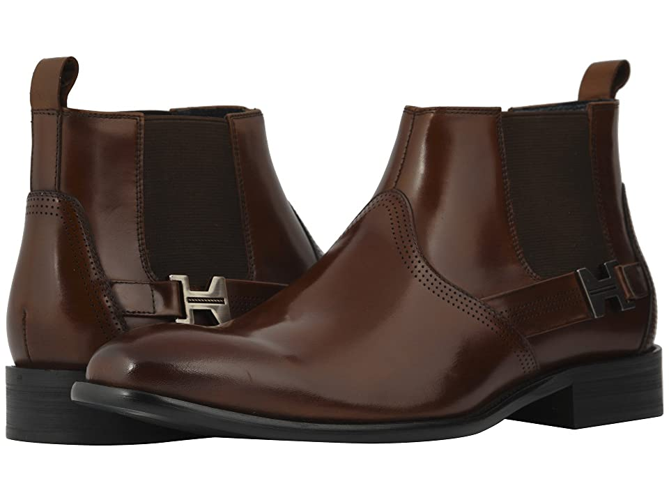 Stacy Adams Joffrey Plain Toe Chelsea Boot (Cognac) Men