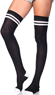 Collant in pizzo con decorazione a piume colore: nero taglia unica da donna Leg Avenue