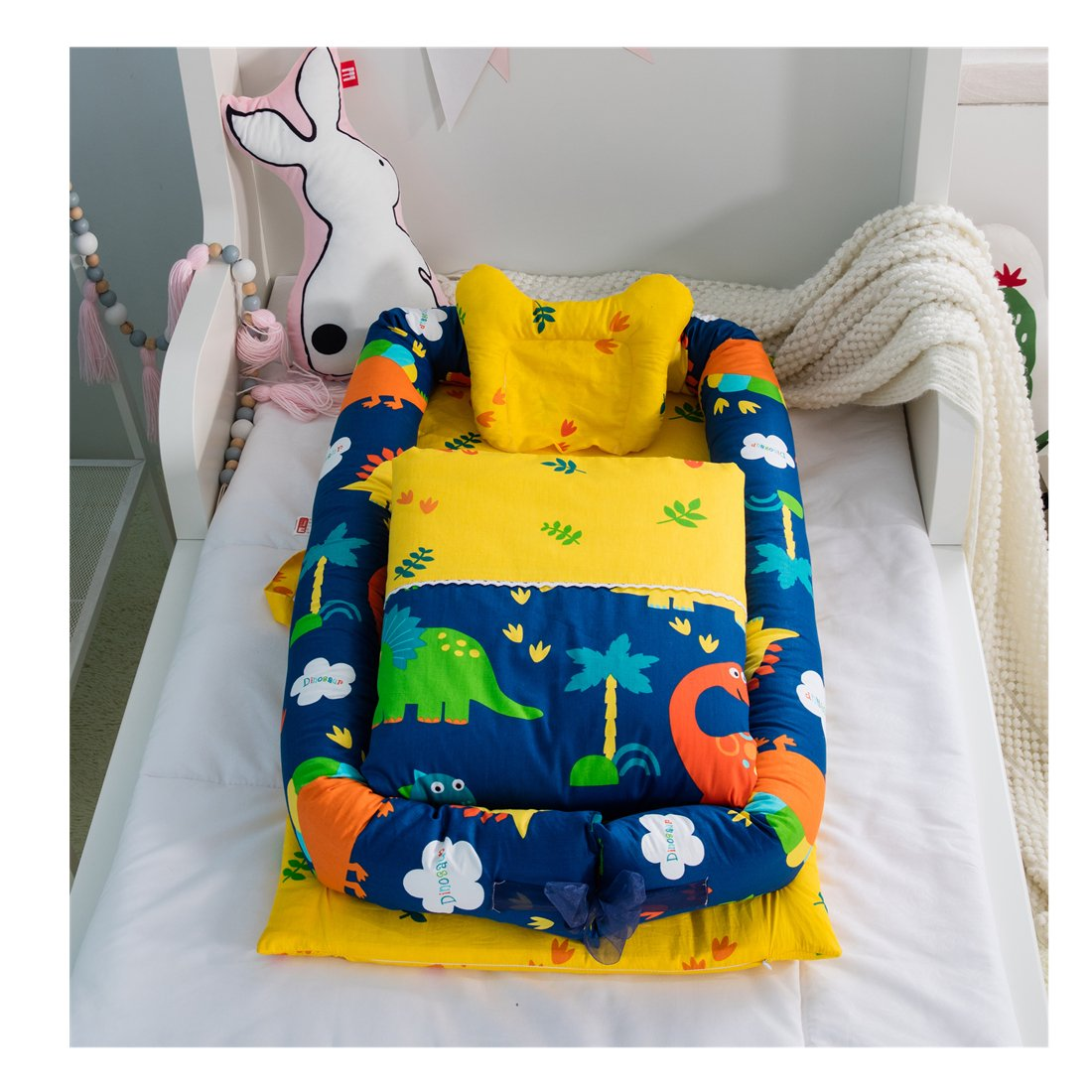Cotton Detachable Baby Nest Quilt and for 0-24 Bab Months Pillow Al sold Sale out.