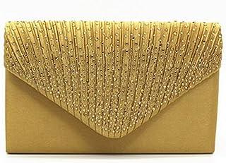 70088f981928 Nodykka Women Evening Envelope Handbag Party Bridal Clutch Purse Shoulder  Cross Body Bag