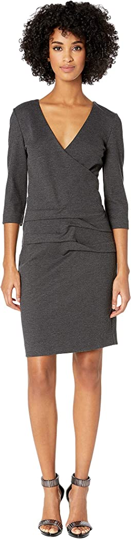 Ponte Tidal Pleat Dress