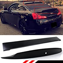 Cuztom Tuning Fits for 2008-2015 Infiniti G37 Q60 2 Door highkick Duckbill Trunk Wing + Rear Roof Spoiler