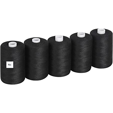 White 100/% Polyester Thread Sew All Polyester Thread Spool 1749 Yards