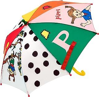 Micki & Friends 44377400 Pippi Langstrumpf Regenschirm Sonnenschirm Kinderregenschirm - Kinder – bunt - ab 3 Jahren - Astr...