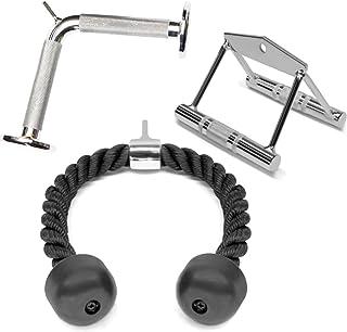 A2ZCARE Combo Tricep Press Down Cable Attachment |...