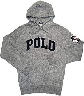 Polo Ralph Lauren Men's Performance Double Knit Pullover Hoodie USA Flag Sweatshirt