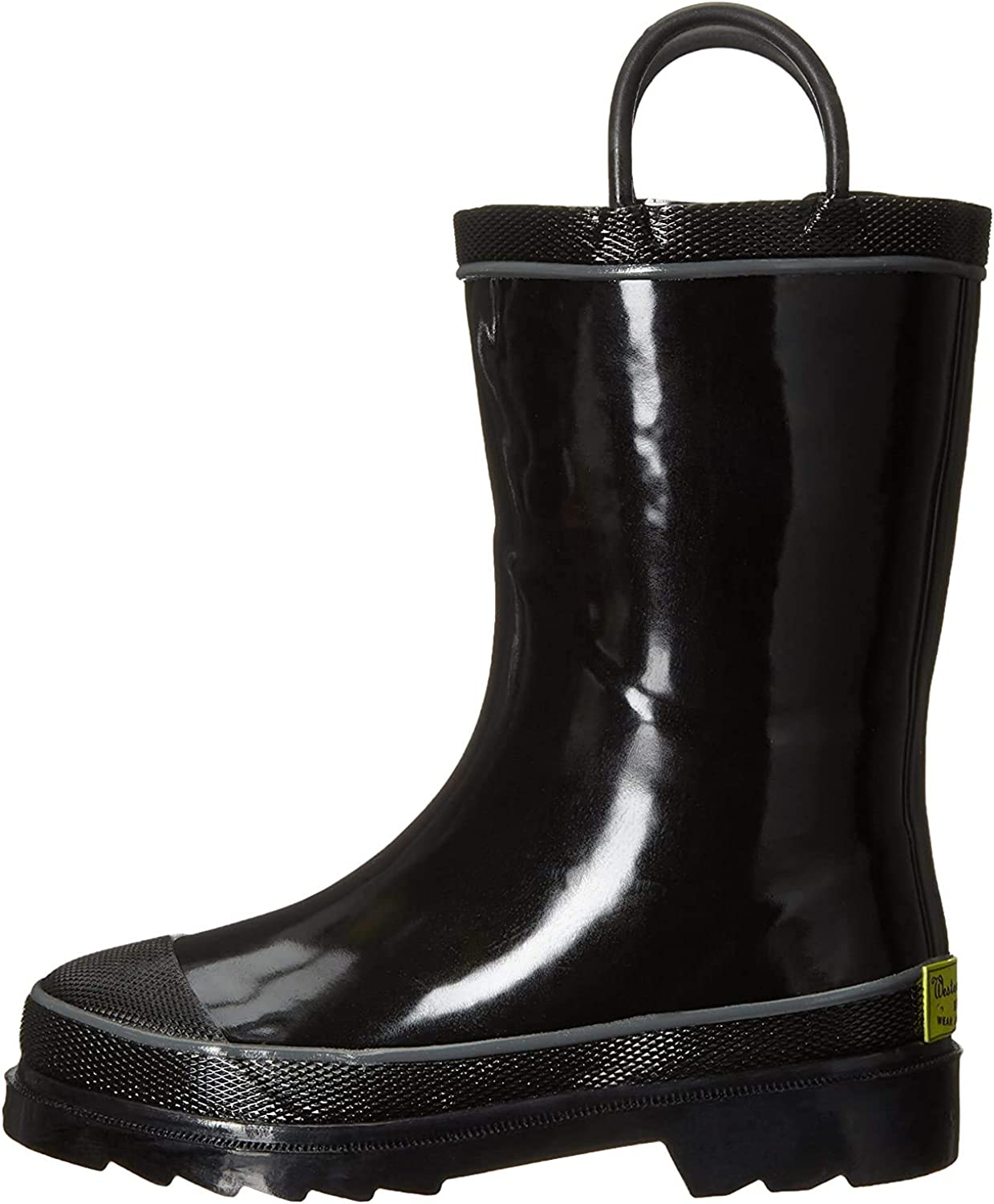 Western Chief Unisex-Child Waterproof Rubber Classic Rain Boot with Pull Handles