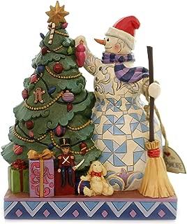 Enesco Jim Shore Heartwood Creek Snowman Decorating Tree Figurine