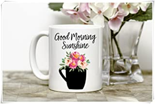 OttoRiven101 - Cute Coffee Mug, Good Morning Sunshine, Quirky Mug, 11oz Ceramic Coffee Mug/Tea Cup, High Gloss
