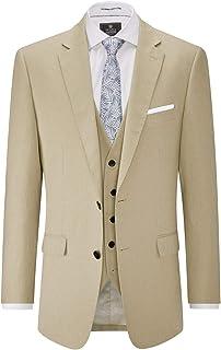 Skopes Mens Linen Blend Suit Jacket in Stone (Morant)