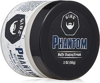 GIBS Grooming Phantom Men Hair Shaping Cream – Medium Hold Ultra Matte Finish With Holy Basil, Hops, Tapioca Starch & Kaolin – 2 oz