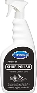 TetraClean Multicolor Patent Leather, Leather, Nubuck, Synthetic Leather Shoe Polish in Spray Bottle (500 ml)