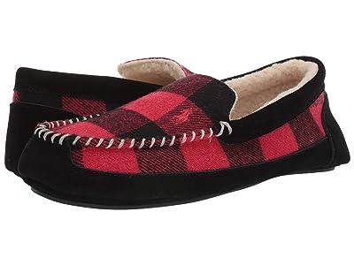 Polo Ralph Lauren Cali Slipper (Red/Black Plaid) Men