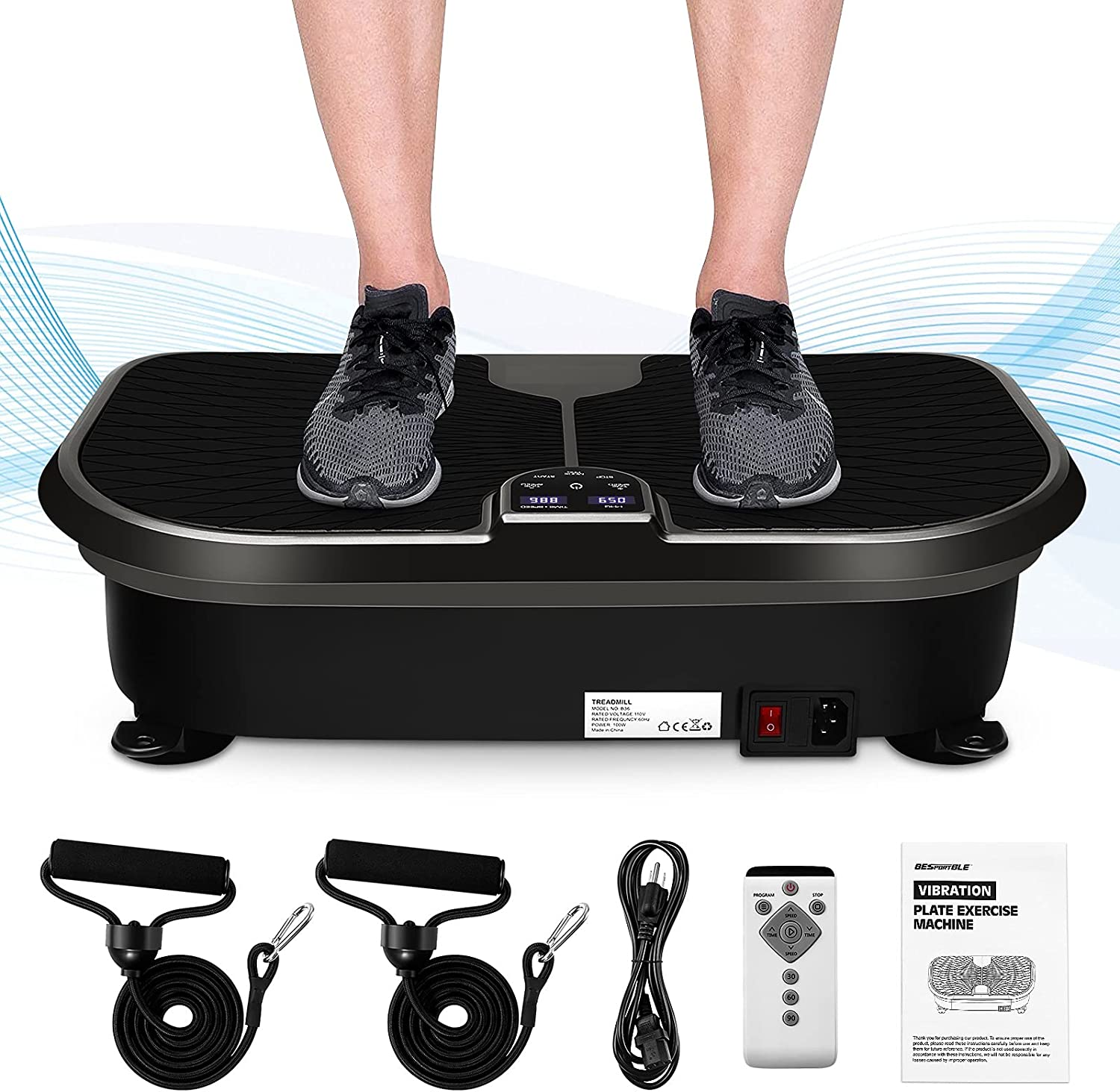 VOSAREA Fitness Vibration Plate Exercise Machine Weight New sales Large special price !! Loss for