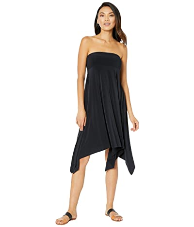 Magicsuit Jersey Handkerchief Skirt/Dress Cover-Up (Black) Women