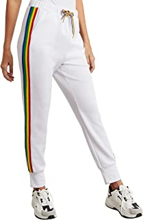 Rainbow Side Striped Jogger with Side Pocket For Women Closet by Styli