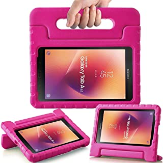 AVAWO Kids Case for Samsung Galaxy Tab A 8.0 2017 (SM-T380/SM-T385) - Shock-Proof Light Weight Super Protection Handle Stand Case for Samsung Galaxy Tab A 8-inch 2017 Tablet, Rose