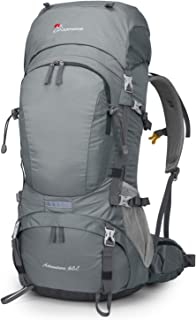 MOUNTAINTOP 50L/60L Hiking Backpack with Rain Cover